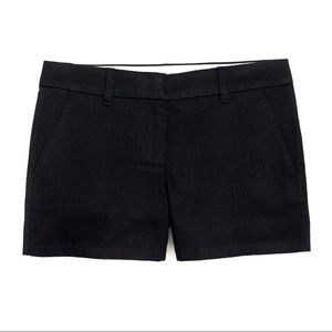 "J. Crew 3"" inch inseam black chino pocket shorts 0"